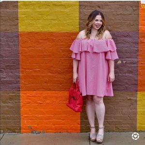 Chicwish red plaid ots dress